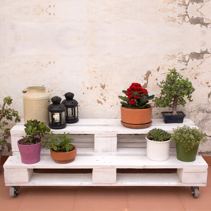Decorar con cactus ecodeco mobiliario Jardineras de cactus