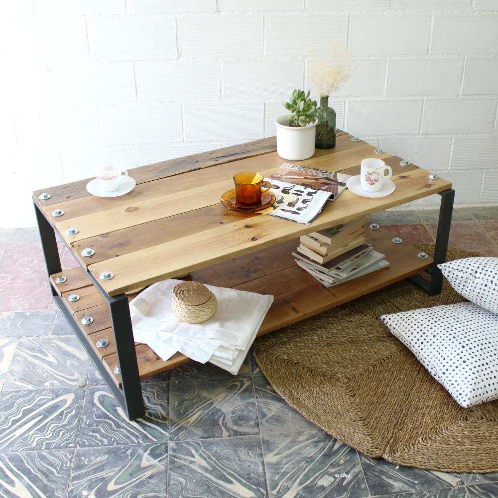 mesas con madera reciclada